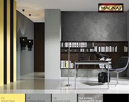 Aranżacje - Średnie szare biuro domowe w pokoju - zdjęcie od Magnat Magia Szlachetnych Barw