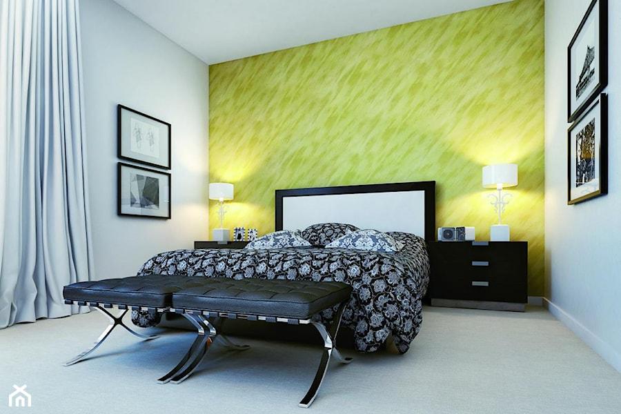 Aranżacje wnętrz - Sypialnia: Aranżacje - Średnia kolorowa sypialnia dla gości, styl minimalistyczny - Magnat Magia Szlachetnych Barw. Przeglądaj, dodawaj i zapisuj najlepsze zdjęcia, pomysły i inspiracje designerskie. W bazie mamy już prawie milion fotografii!