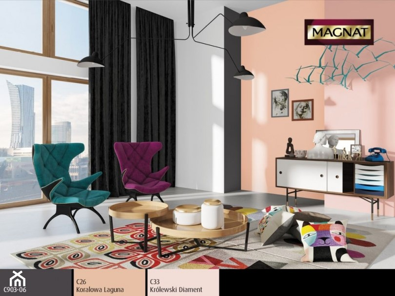 Aranżacje wnętrz - Salon: Aranżacje - Salon, styl nowoczesny - Magnat Magia Szlachetnych Barw. Przeglądaj, dodawaj i zapisuj najlepsze zdjęcia, pomysły i inspiracje designerskie. W bazie mamy już prawie milion fotografii!