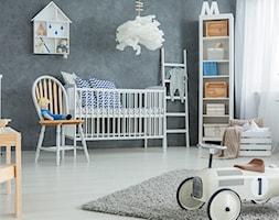Farby do pokoju dziecięcego - Średni biały szary pokój dziecka dla chłopca dla dziewczynki dla niemowlaka, styl skandynawski - zdjęcie od Magnat Magia Szlachetnych Barw