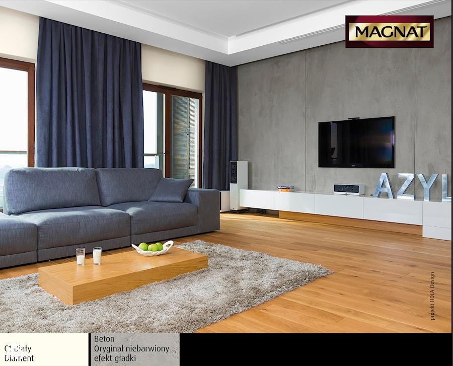 Aranżacje - Średni szary biały salon, styl tradycyjny - zdjęcie od Magnat Magia Szlachetnych Barw