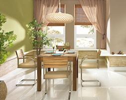 Aranżacje - Mały szary zielony salon z jadalnią, styl tradycyjny - zdjęcie od Magnat Magia Szlachetnych Barw