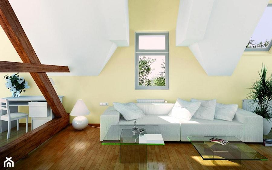 Aranżacje wnętrz - Salon: Aranżacje - Średni biały żółty salon, styl tradycyjny - Magnat Magia Szlachetnych Barw. Przeglądaj, dodawaj i zapisuj najlepsze zdjęcia, pomysły i inspiracje designerskie. W bazie mamy już prawie milion fotografii!