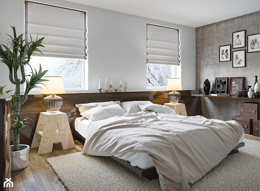 Aranżacje wnętrz - Sypialnia: Aranżacje - Duża biała szara sypialnia małżeńska, styl eklektyczny - Magnat Magia Szlachetnych Barw. Przeglądaj, dodawaj i zapisuj najlepsze zdjęcia, pomysły i inspiracje designerskie. W bazie mamy już prawie milion fotografii!