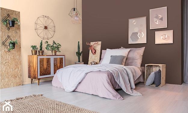 beżowa sypialnia w stylu vintage
