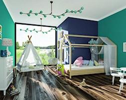Aranżacje - Duży niebieski zielony pokój dziecka dla chłopca dla dziewczynki dla ucznia dla malucha, styl eklektyczny - zdjęcie od Magnat Magia Szlachetnych Barw