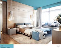 Aranżacje - Średnia turkusowa sypialnia małżeńska z garderobą, styl eklektyczny - zdjęcie od Magnat Magia Szlachetnych Barw