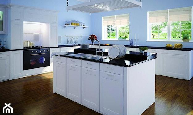 niebieska kuchnia, błękitna kuchnia, jaki kolor do kuchni