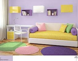 Farby do pokoju dziecięcego - Mały fioletowy pokój dziecka dla dziewczynki dla ucznia dla malucha dla nastolatka - zdjęcie od Magnat Magia Szlachetnych Barw
