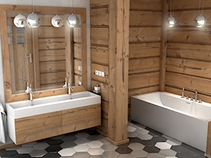 Nietypowa łazienka z produktami od Luxum