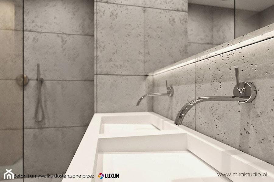 Nowoczesna łazienka Umywalka I Beton Architektoniczny Od