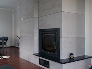 Kominek z betonu architektonicznego
