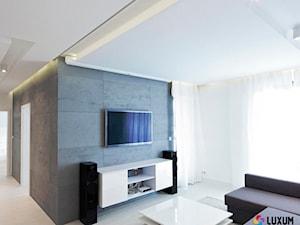 Beton architektoniczny - nowoczesna aranżacja salonu