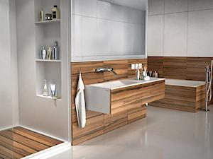 Nietypowa łazienka z produktami od Luxum w nowoczesnej odsłonie