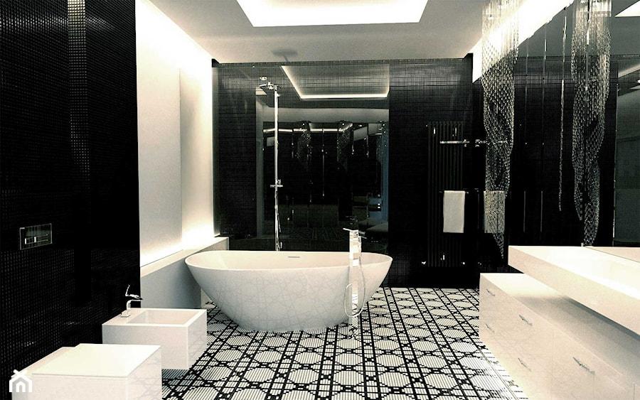 Elegancka łazienka w stylu glamour. - Duża łazienka w domu jednorodzinnym, styl glamour - zdjęcie od Luxum