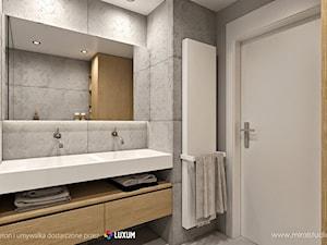 Nowoczesna łazienka - umywalka i beton architektoniczny od LUXUM
