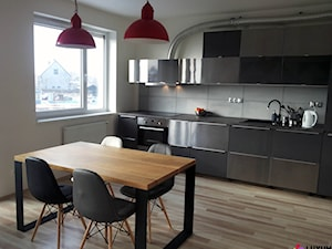 Beton architektoniczny w kuchni.