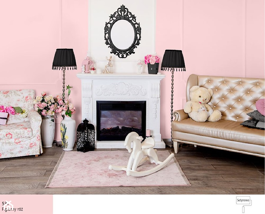 Aranżacje wnętrz - Pokój dziecka: Trendy 2017 - Mały biały różowy pokój dziecka dla dziewczynki dla malucha dla nastolatka, styl glamour - Śnieżka. Przeglądaj, dodawaj i zapisuj najlepsze zdjęcia, pomysły i inspiracje designerskie. W bazie mamy już prawie milion fotografii!