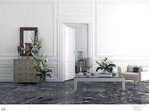 Aranżacje - Duży biały salon, styl klasyczny - zdjęcie od Śnieżka