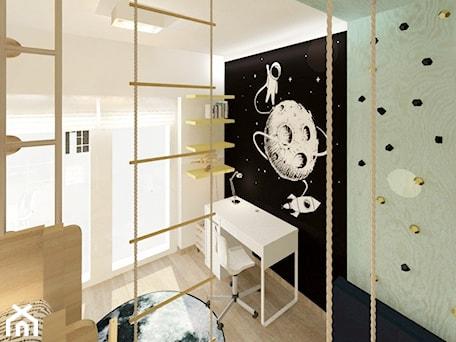 Pokój dla chłopców - Mały biały czarny pokój dziecka dla chłopca dla dziewczynki dla ucznia dla malucha dla nastolatka, styl skandynawski - zdjęcie od Ideovo