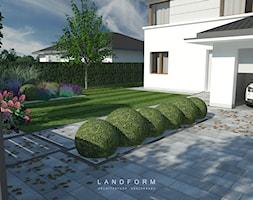 STONE & WOOD - Średni ogród przed domem, styl nowoczesny - zdjęcie od Landform