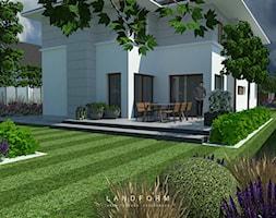 STONE & WOOD - Ogród, styl nowoczesny - zdjęcie od Landform - Homebook