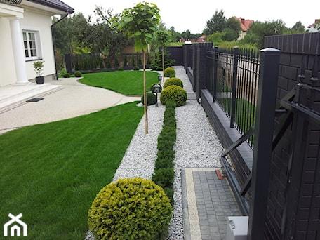 Aranżacje wnętrz - Ogród: CLASSIC - Średni ogród przed domem z ogródkiem warzywnym, styl klasyczny - Landform. Przeglądaj, dodawaj i zapisuj najlepsze zdjęcia, pomysły i inspiracje designerskie. W bazie mamy już prawie milion fotografii!