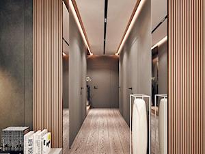 Chojnice - Duży szary hol / przedpokój - zdjęcie od KONZEPT Architekci