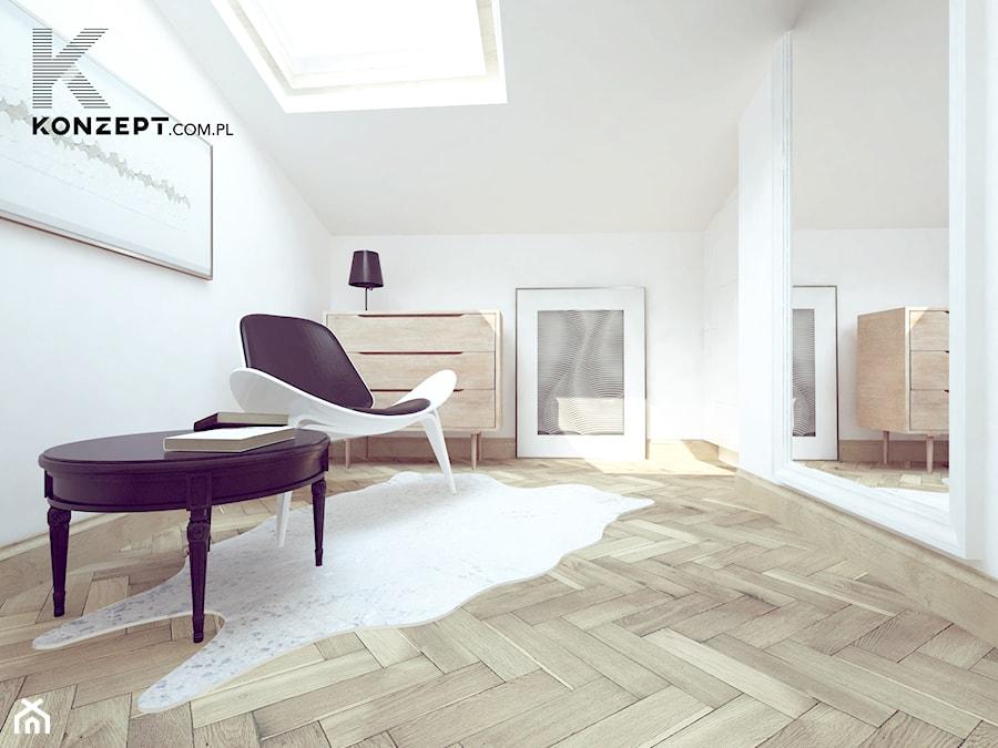 Stolarska II - Średnie białe biuro na poddaszu, styl tradycyjny - zdjęcie od KONZEPT Architekci