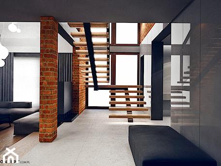 Aranżacje wnętrz - Schody: Masłomiąca - Średnie wąskie schody dwubiegowe drewniane, styl minimalistyczny - KONZEPT Architekci. Przeglądaj, dodawaj i zapisuj najlepsze zdjęcia, pomysły i inspiracje designerskie. W bazie mamy już prawie milion fotografii!