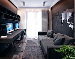 Wieliczka - Małe czarne biuro domowe w pokoju, styl nowoczesny - zdjęcie od KONZEPT Architekci