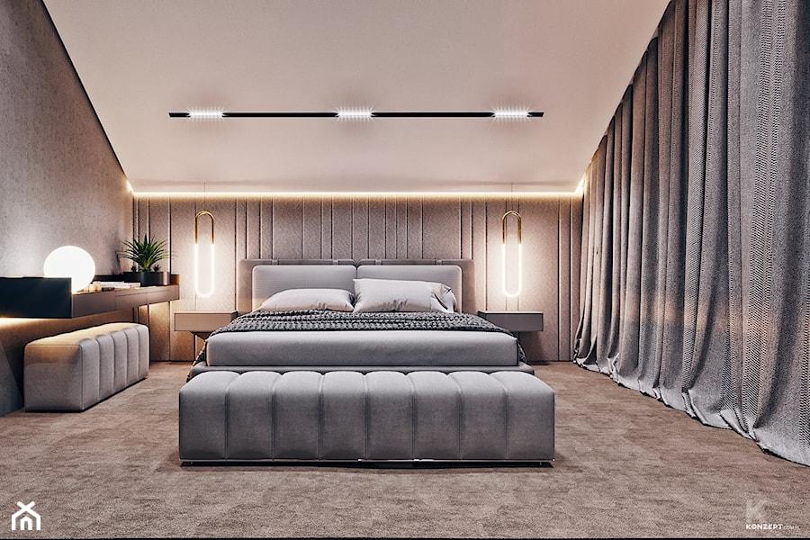Sypialnia - wizualizacja od KONZEPT Architekci - zdjęcie od KONZEPT Architekci
