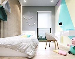 Czarodziejska Kraków - Średni szary kolorowy pokój dziecka dla dziewczynki dla ucznia dla malucha dla nastolatka - zdjęcie od KONZEPT Architekci