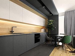 Podgórze - Średnia otwarta kuchnia jednorzędowa w aneksie z oknem, styl nowoczesny - zdjęcie od KONZEPT Architekci