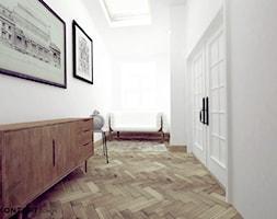 Stolarska II - Średnie białe biuro w pokoju, styl tradycyjny - zdjęcie od KONZEPT Architekci