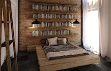 Sypialnia styl Industrialny - zdjęcie od KONZEPT Architekci