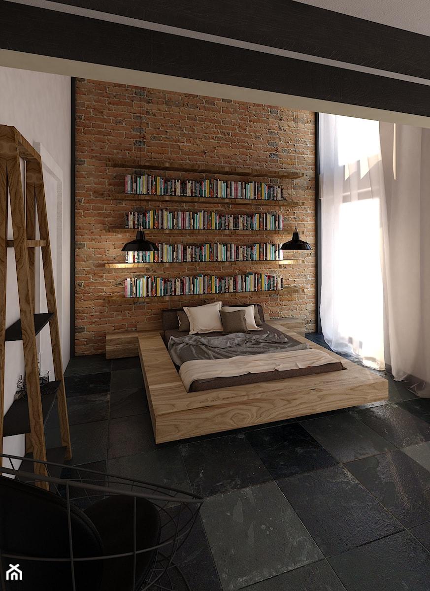 Aranżacje wnętrz - Sypialnia: Angel Wawel - Średnia kolorowa sypialnia dla gości na poddaszu, styl industrialny - KONZEPT Architekci. Przeglądaj, dodawaj i zapisuj najlepsze zdjęcia, pomysły i inspiracje designerskie. W bazie mamy już prawie milion fotografii!