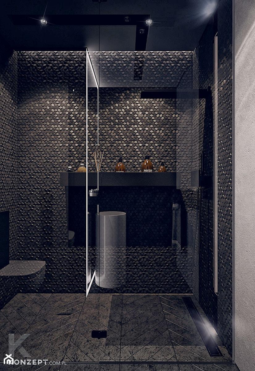 Gen. Kościuszki - Mała średnia łazienka, styl minimalistyczny - zdjęcie od KONZEPT Architekci