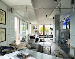 Sadyba 110 - Duże białe biuro domowe w pokoju, styl nowoczesny - zdjęcie od Łukasz Milewski Architekt - Homebook