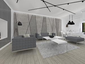 Monochromatyczny apartament 108m2