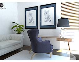Mieszkanie pokazowe nr2 przy ul. Sikorskiego w Legionowie - Małe białe biuro kącik do pracy w pokoju, styl glamour - zdjęcie od ELITE HOME