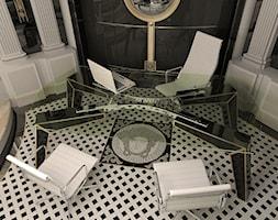 Projekt łazienki show-roomu Gianni Versace CD - autor J.Żurek - Małe czarne szare biuro pracownia, styl glamour - zdjęcie od AUTORSKA PRACOWNIA PROJEKTOWA DR JACEK KRZYSZTOF ŻUREK