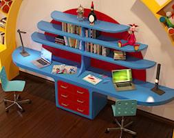 Projekt pokoju dziecięcego - Mały szary pokój dziecka dla chłopca dla dziewczynki dla rodzeństwa dla ucznia dla malucha, styl nowoczesny - zdjęcie od AUTORSKA PRACOWNIA PROJEKTOWA DR JACEK KRZYSZTOF ŻUREK