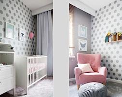 Mieszkanie Barciński Park Łódź - Mały szary pokój dziecka dla chłopca dla dziewczynki dla niemowlaka, styl klasyczny - zdjęcie od Hanna Pietras Pracownia Architektoniczna