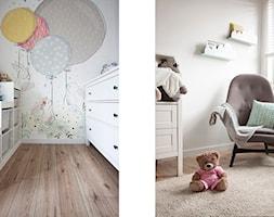Mieszkanie Sokołówka - Mały biały szary pokój dziecka dla chłopca dla dziewczynki dla malucha, styl skandynawski - zdjęcie od Hanna Pietras Pracownia Architektoniczna
