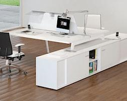 Gabinet - Średnie białe biuro pracownia, styl włoski - zdjęcie od italiastyle