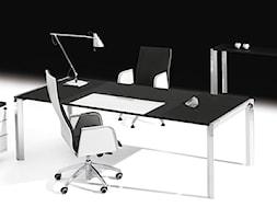 Gabinet - Średnie czarne biuro pracownia, styl włoski - zdjęcie od italiastyle