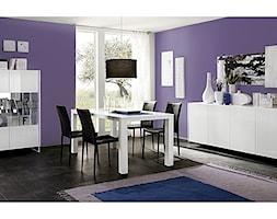 Jadalnia - Średnia zamknięta fioletowa jadalnia jako osobne pomieszczenie, styl włoski - zdjęcie od italiastyle