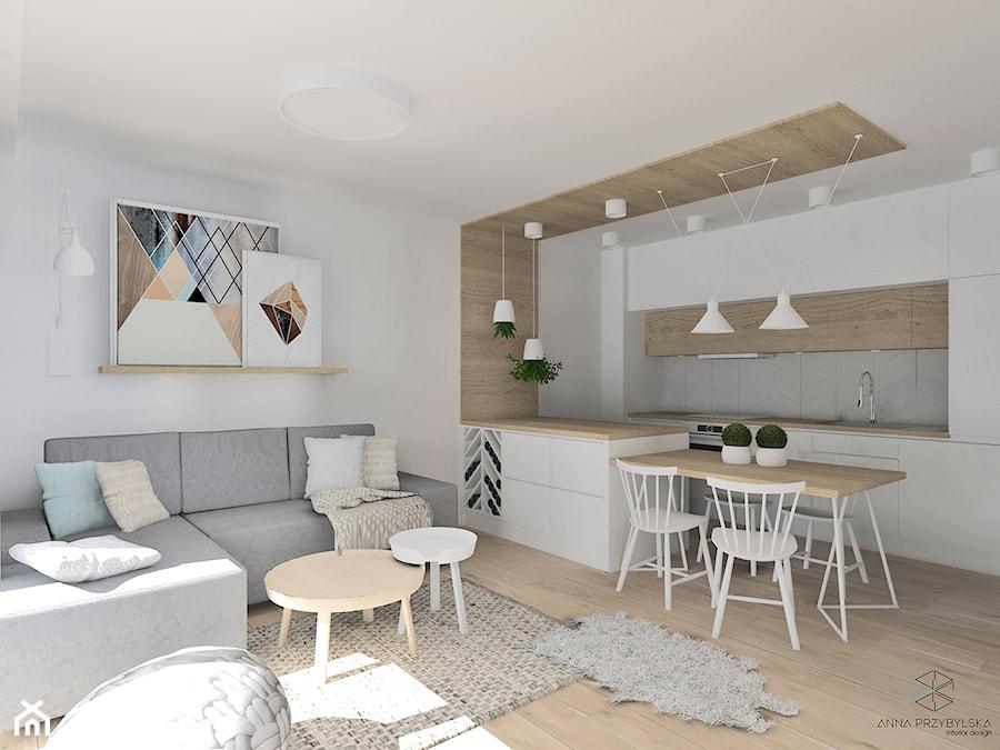 Przytulny salon w stylu skandynawskim. - zdjęcie od Anna Przybylska Design