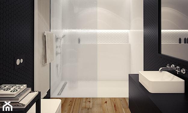 prysznic walk-in w małej łazience